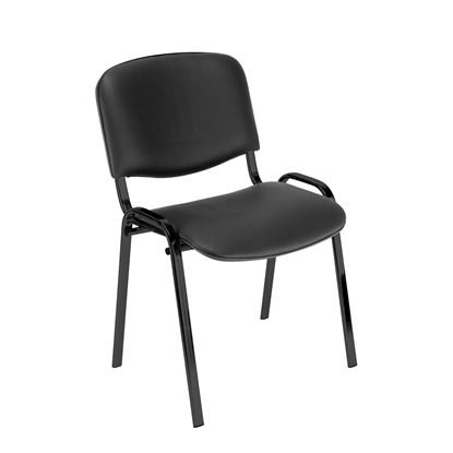 Picture of Nowy Styl ISO Black Visitor Chair, eco-leather, black
