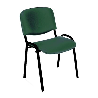 Picture of Nowy Styl ISO Black Visitor Chair, eco-leather, green
