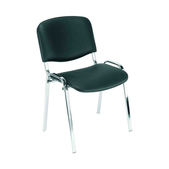 Picture of Nowy Styl Iso Chrome Visitor Chair, eco leather, black, V14