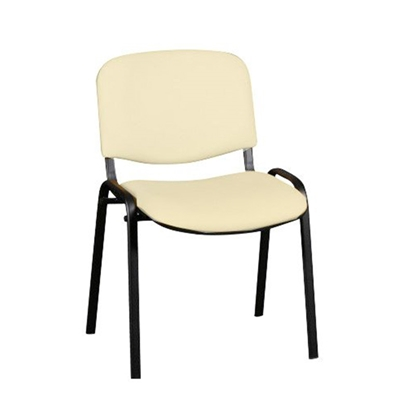 Picture of Nowy Styl Iso Black Visitor Chair, eco leather, beige