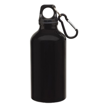 Picture of TOPS Bottle Transit, made of aluminium, with carabiner, 400 ml, black