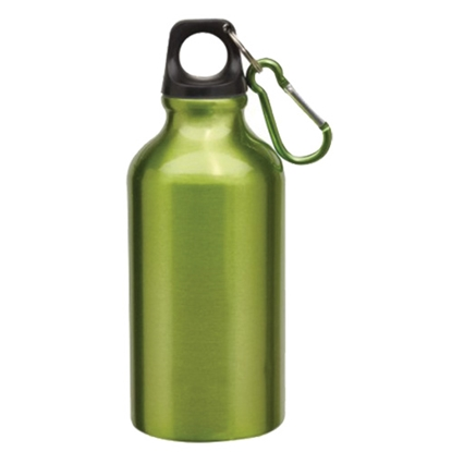 Picture of TOPS Bottle Transit, made of aluminium, with carabiner, 400 ml, green