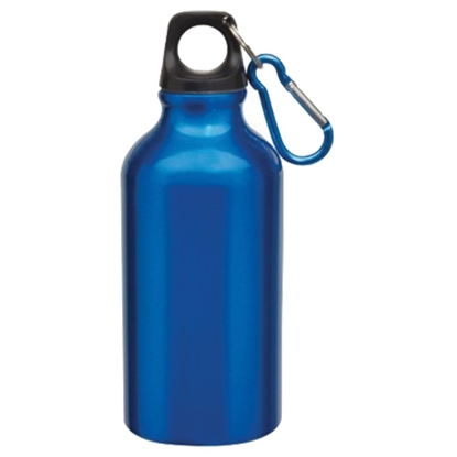 Picture of TOPS Bottle Transit, made of aluminium, with carabiner, 400 ml, blue
