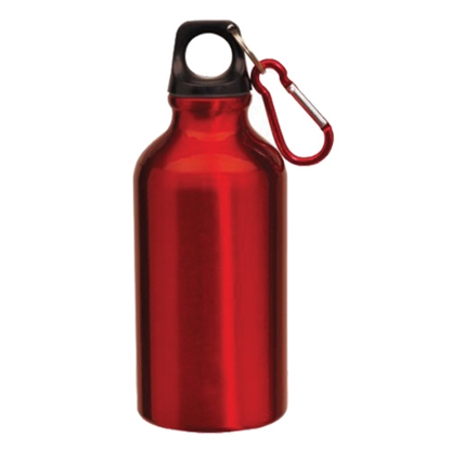Picture of TOPS Bottle Transit, made of aluminium, with carabiner, 400 ml, red