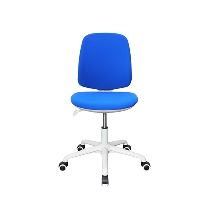 Picture of RFG Childrens chair Lucky White, damask, blue seat, blue backrest