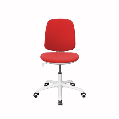 Picture of RFG Childrens chair Lucky White, damask, red seat, red backrest