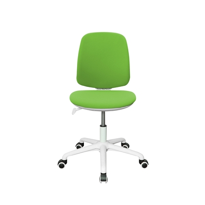 Picture of RFG Childrens chair Lucky White, damask, green seat, green backrest