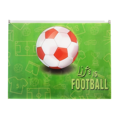 Снимка на Panta Plast Папка Football Collection, PP, с цип, A4