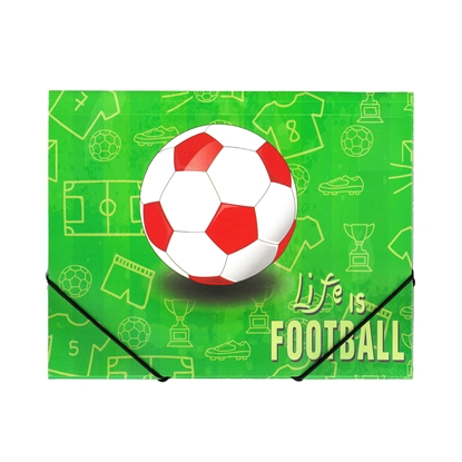 Picture of Panta Plast Action case Football Collection, PP, with elastic straps, 3 flaps, A4