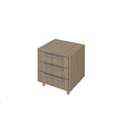 Picture of K7 Container with 3 drawers, 55 x 50 x 58 cm, ash