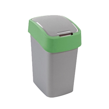 Picture of Dustbin Flip plastic, with swing lid, 50 L, green