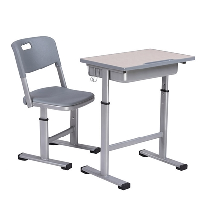 Picture of RFG Ergonomic electric desk Ergo School , white metal legs, amber-coloured board