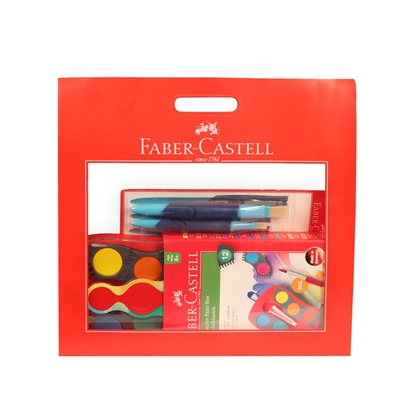 Picture of Faber-Castell set – watercolors Connector, bendable cup for painting and 2 pcs bendable Brushes