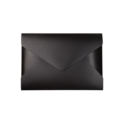 Picture of TOPTEAM Document wallet with with velcro Intial, PP, black
