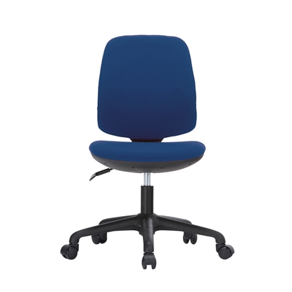 Picture of RFG Childrens chair Lucky Black, damask, blue seat, blue backrest