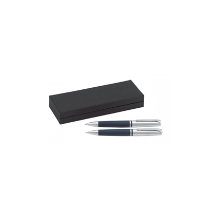 Picture of TOPiCO Writing set, ballpoint pen and mechanical pencil Editor, blue, in a box