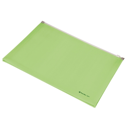 Picture of Panta Plast Focus Folder, with zip, A4, light green