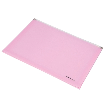 Picture of Panta Plast Focus Folder, with zip, A4, pink