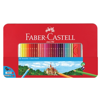 Picture of Faber-Castell pencils , 60 colours, in a metal box