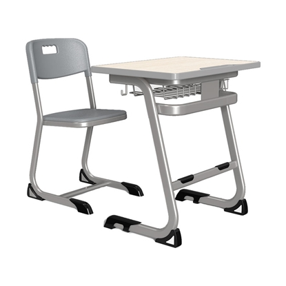 Picture of RFG Ergonomic electric desk Istudy Shool, white metal legs, amber-coloured board