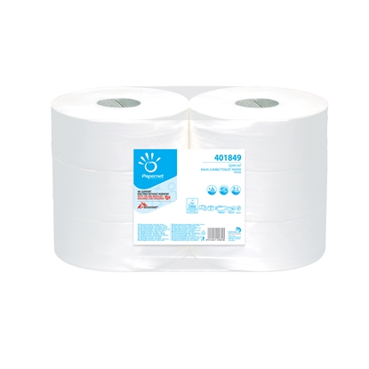 Picture of Papernet toilet paper, jumbo, cellulose, two-layered, 1 kg, 6 pcs