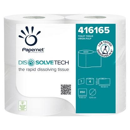 Picture of Volare Toilet paper Dissolvetech, celluolose, single-ply, 850 cuts, 4 pcs.