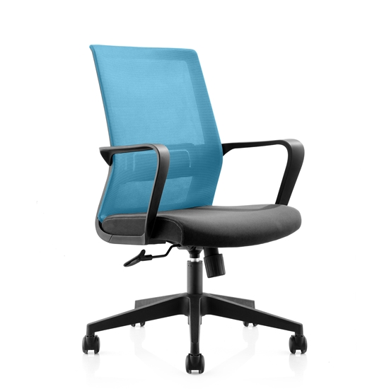 Picture of RFG Smart W Office Chair, mesh and upholstery, black seat , light blue back
