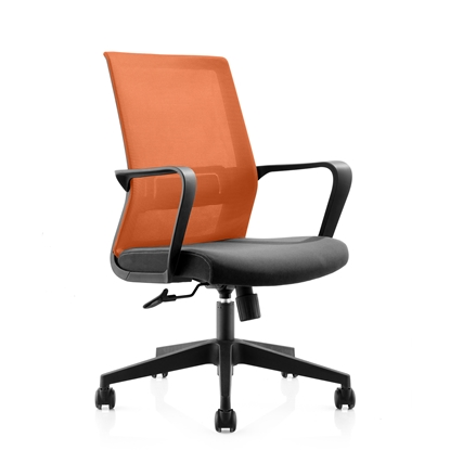 Picture of RFG Smart W Office Chair, mesh and upholstery, black seat , orange back