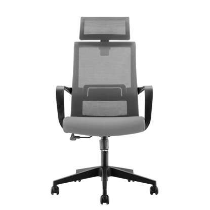 Picture of RFG Smart HB Director s Chair, mesh and upholstery, dark grey seat , grey back