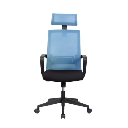 Picture of RFG Smart HB Director s Chair, mesh and upholstery, black seat , light blue back