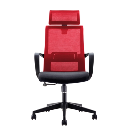 Picture of RFG Smart HB Director s Chair, mesh and upholstery, black seat, red back