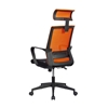 Picture of RFG Smart HB Director s Chair, mesh and upholstery, black seat, orange back