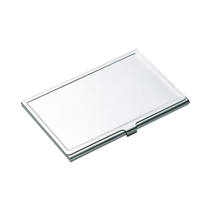 Picture of Business card holder Fado, metallic, silver