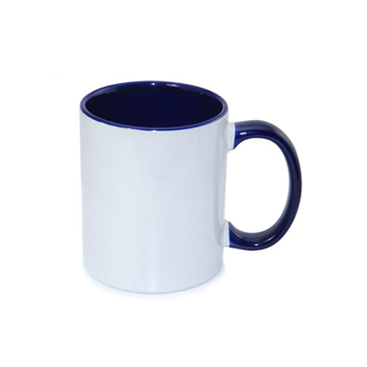 Picture of Sublimation mug with coloured inside and handle, blue