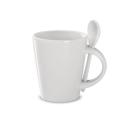 Picture of Sublimation mug with spoon, 340 ml, white
