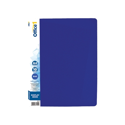 Picture of Office 1 Superstore Display Book with 10 pockets, removable label, blue