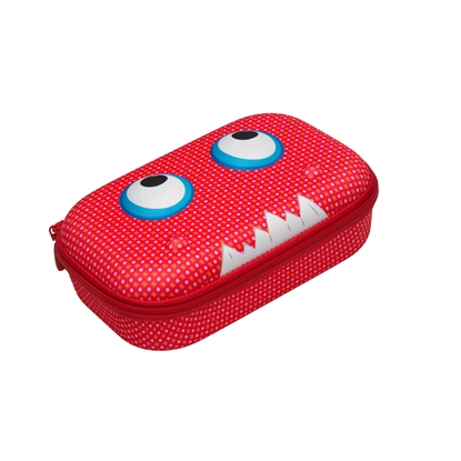 Picture of ZIPIT pencil pouch, Beast, red, in a box