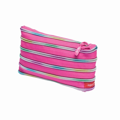 Picture of ZIPIT pencil case Rainbow, pink
