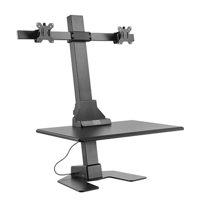 Picture of Lumi DWS10-T02 Dual Monitor Stand, 13' - 32', black