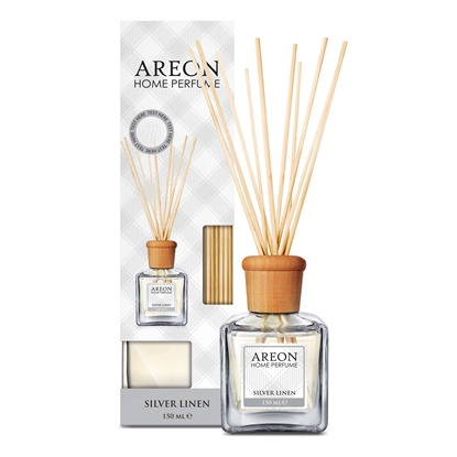 Picture of Areon Home Perfume Air freshener Sticks, Silver Linen, 150 ml