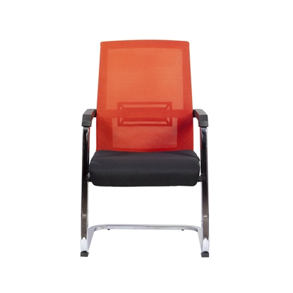 Picture of RFG Roma M Visitor Chair, mesh and upholstery, black seat , red back