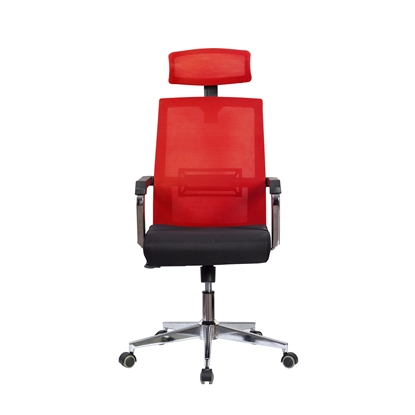 Picture of RFG Roma HB Director s Chair, mesh and upholstery, black seat , red back