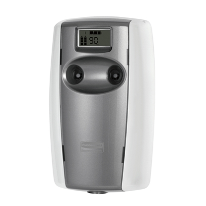 Picture of Rubbermaid Microburst Duet Air freshener dispenser, white and grey
