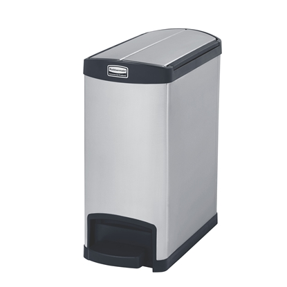 Снимка на Rubbermaid Кош Slim Jim End, метален, 30 L, черен