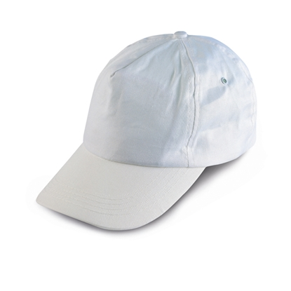 Picture of 5-panel  Baseball cap polyester, white, 10 pcs.