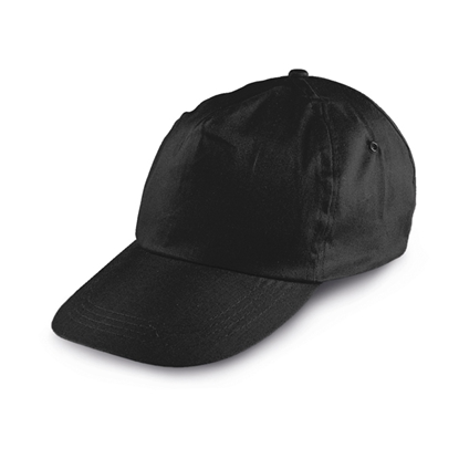 Picture of 5-panel  Baseball cap polyester, black, 10 pcs.