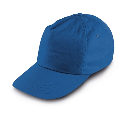 Picture of 5-panel  Baseball cap polyester, blue, 10 pcs.