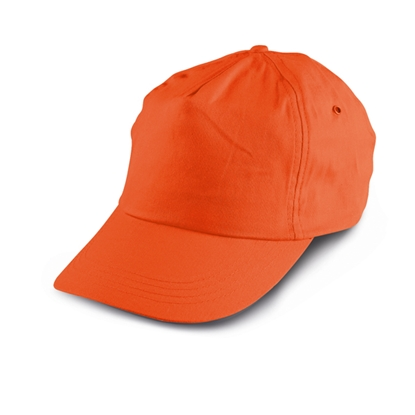 Picture of 5-panel  Baseball cap polyester, orange, 10 pcs.