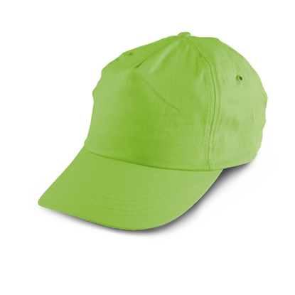 Picture of 5-panel  Baseball cap polyester, green, 10 pcs.