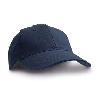 Picture of 6-panel  Baseball cap cotton, dark blue, 10 pcs.